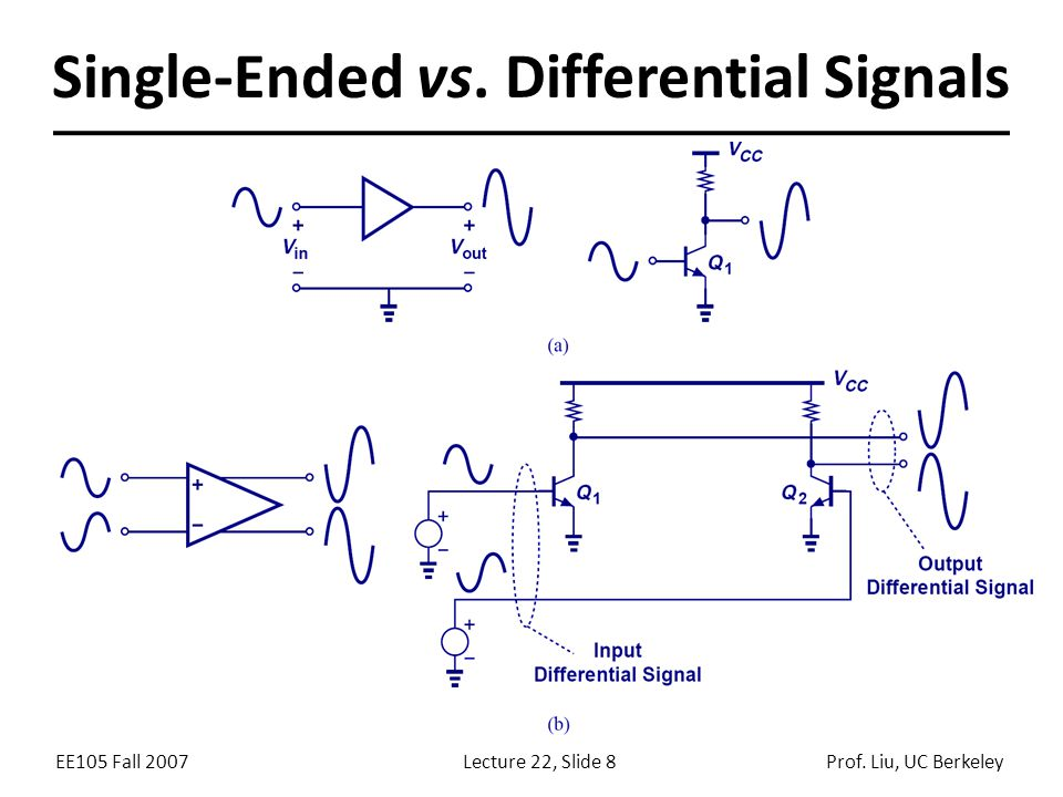 Differential Signals Over Single Ended Signals Advantage